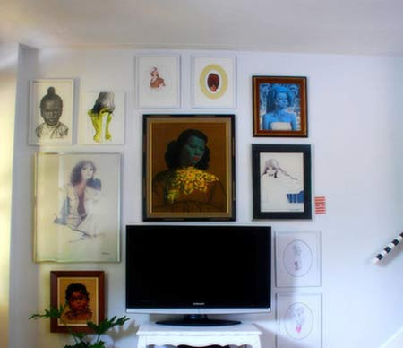 integrate a flat-screen TV